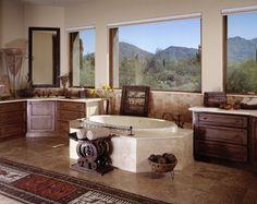 Master bathroom free standing tub palm beach style design