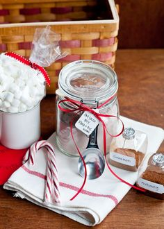 This homemade gift is suitable for anyone on your list, and it shows you've put some heart in it: hot cocoa in a jar!