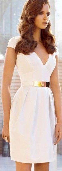 Classy and elegant white dress - This fashion