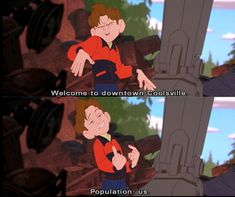 """""""Welcome to downtown Coolsville. Population... us."""" - Hogarth Hughes (The Iron Giant)"""