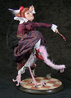 Queen of Hearts Art doll by Mark Dennis