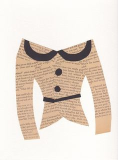 Use old book pages to create paper clothes.