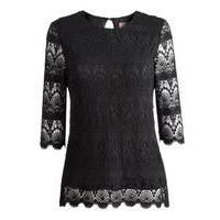 Classic black lace shirt from @joulesclothing