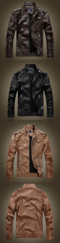 Men Coats And Jackets: Mens Genuine Lambskin Leather Jacket Black Slim Fit Biker Motorcycle Jacket BUY IT NOW ONLY: $35.99