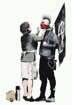 Funny pictures about Banksy. Oh, and cool pics about Banksy. Also, Banksy photos. Banksy Graffiti, Street Art Banksy, Graffiti Artwork, Bansky, Banksy Posters, Banksy Canvas, Urbane Kunst, Wow Art, Art Plastique