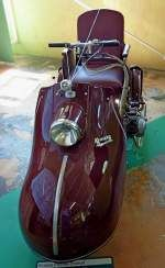 Krause Piccolo-Trumpf, Baujahr 1958, der Moped-Krankenselbstfahrer für Versehrte wurde in Leipzig gebaut mit dem Simson-Moped-Motor von 48ccm und 1,5PS, Vmax.30Km/h, Automuseum Schramberg, Mai 2012