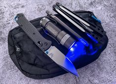 submitted by Mikey BautistaHyperlite Mountain Gear VersaBenchmade 535-3 BugoutJETBeam RRT03Ti2 Design BoltLiner Grid FalloutLOG Design Jian Balisong Trainer