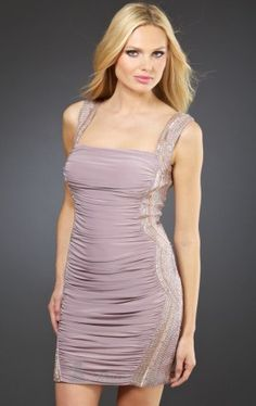 stunning short ruched cocktail dressy mignon Mignon VM629 Dress