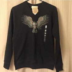 Sz.S Owl Sweater Wish this fit!( Brand new with tags... Plaid Owl Sweater... Sweaters Crew & Scoop Necks