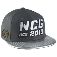 2ee3358c796 Notre Dame Fighting Irish Nike New Snapback hat 2013 National Championship  Game