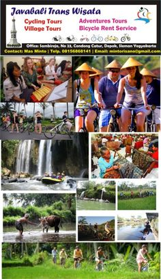 Bali Cycling Tours in Traditional Villages. The new trend adventure tours is Cycling Tours in Bali and Jogja. Cycling tours in Bali is the new amazing vacation with unique experience. Many tourism place in Bali island suitable for cycling and fun biking tours.  Bali beach Cycling tours and traditional Villages cycling tours in Bali. Traditional bicycle ride at the village, cycling tours using traditional costume of Javanese. Fun Cycling tours with nature view to paddy field.