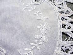 white cotton Battenburg Lace Collars