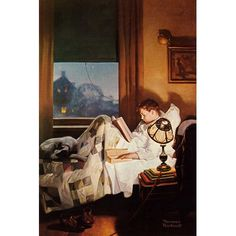 """East Urban Home 'And Every Lad May Be Aladdin' by Norman Rockwell Painting Print on Wrapped Canvas Size: 26"""" H x 18"""" W x 1.5"""" D"""