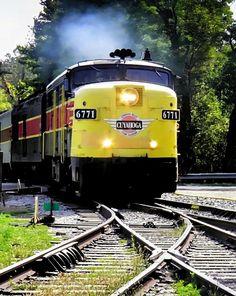 Cuyahoga scenic Train by Darlene Eastin....which wat to go....??? :-) KSS