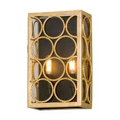 Bottega Gold Leaf Two Light Wall Sconce Troy Flush To Wall Wall Sconces Wall Lighting