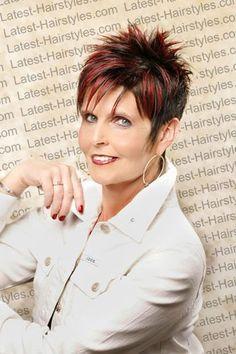 +Short Spikey hair Styles For Older Women Short Hairstyles For Thick Hair, Haircut For Thick Hair, Short Hair Cuts, Cool Hairstyles, Short Hair Styles, Short Pixie, Hairstyle Ideas, 2014 Hairstyles, Dread Hairstyles