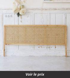 Double cane headboard - Sale of rattan bedroom furniture - Tikamoon 179 € . Rattan Headboard, Headboards For Beds, Diy Bed Headboard, Rattan Bed Frame, Plywood Headboard, Homemade Headboards, Headboard Ideas, Queen Headboard, Home Decor Bedroom