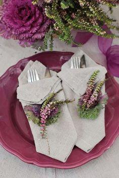 Light eggplant and lavender...