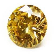4.08ct Round Fancy Deep Yellow Diamond