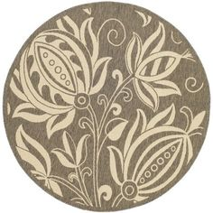 Safavieh Courtyard Brown/Natural Rug Kim House, Indoor Outdoor Area Rugs, Outdoor Decor, Laundry Room Rugs, Polypropylene Rugs, Circle Rug, Round Area Rugs, Natural Rug, Online Home Decor Stores
