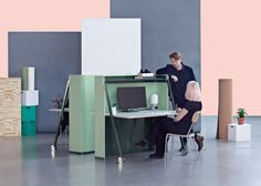 Deskretary by Dick Hammer is a foldaway desk designed as an alternative to corporate office furniture