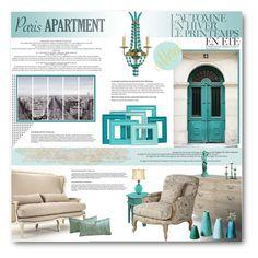 """Paris Apartment"" by anitadz ❤ liked on Polyvore featuring interior, interiors, interior design, home, home decor, interior decorating, Été Swim, Art Addiction, Chanel and Crestview Collection"