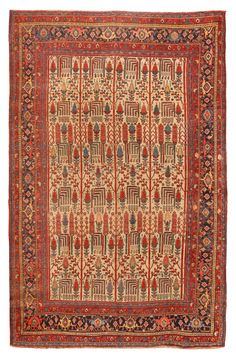 Antique Bidjar Carpet (Most Bijar Kurdish carpets are woven by Gerrus Kurds in the Bijar area while a finer copy of Bijar carpets are woven by Afshar weavers who live in the Tekab and Tekkenteppe Area in Gerus.)