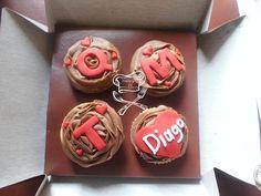 Cubierta de chocolate con mensaje personalizado