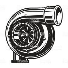 car dibujos Isolated monochrome illustration of car turbocharger on white background Service Auto, Car Repair Service, Carros Turbo, Monochrome, Automobile, Car Tattoos, Airplane Tattoos, Garage Interior, Car Drawings
