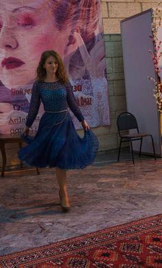 """Счастливые минуты вязания: мохеровое платье """"Синяя птица"""""""
