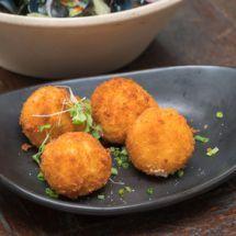 Ma recette du jour : Croquettes de pommes de terre et chèvre sur Recettes.net