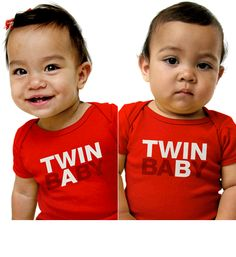 Twin bAby - Twin baBy - babygros with these prints on them may come in handy if we can't think up names in time for the twins arrival