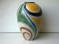 Ruscha Vase Milano Decor Nr 849/2 West German Pottery