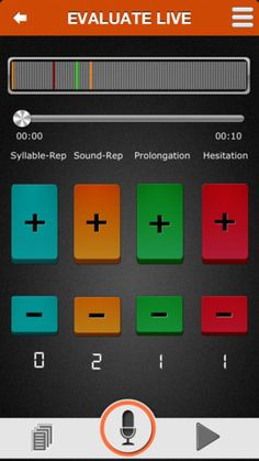 MyLynel ($0.00 with iAP options) FIVE FREE therapy packs to help practice different techniques. THIRTY unique speech drills in each. UNLIMITED live sessions to practice the transfer of skills to real-life conversations. MANY MORE therapy packs for practice through in-app purchases. Enables the learning of common fluency shaping & stuttering modification techniques via practice of speech-drills at home & transfer to real-life conversations. • BioFeedback