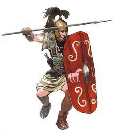 ROMAN: Caesarian legionary, 1st century BC.