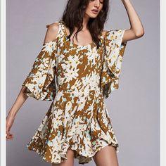 Lowest Free People One Floral Cold Shoulder Dress