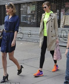 They're BFFs! Taylor Swift emerged from the gym in New York City alongside Victoria's Secret model Karlie Kloss on Saturday
