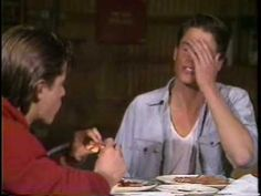 The Outsiders Auditions part 1 of 2 - So Interesting - Rob Lowe, Matt Dillon, and C. Thomas Howell are all  just  gorgeous.