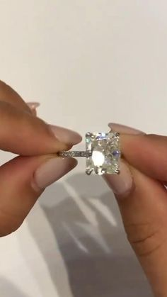 Square Engagement Rings, Dream Engagement Rings, Platinum Engagement Rings, Pretty Wedding Rings, Pretty Rings, Wedding List, Wedding Things, Wedding Stuff, Dream Wedding
