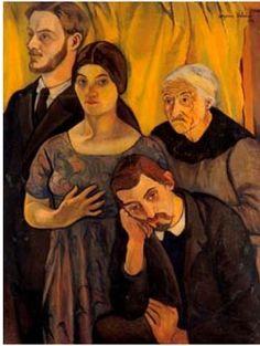 Suzanne Valadon - Family portrait (Utter, S.and M.Valadon, Utrillo), 1912 (1865-1935)