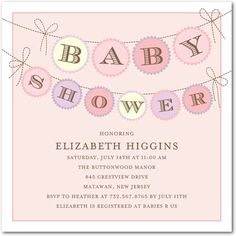 Baby Shower Invitations: make with little onezies hanging?
