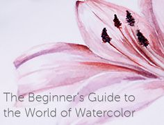 Download Craftsy's Beginner's Guide to the World of Watercolor, which covers everything you need to know to start painting with watercolors today. - via @Craftsy