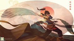 Beautifully done Avatar Korra piece by Caleb Thompson.