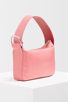 Add a contemporary shape to your bag options with this pink pyramid pouch. Fashion Handbags, Fashion Bags, Fashion Accessories, Women's Fashion, Leather Handbags, Leather Bag, Backpack Purse, Tote Bag, Topshop Unique