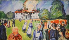 Edvard Munch (1863-1944), The House is Burning!, 1925-27. oil on canvas