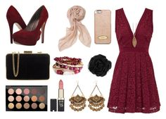 Burgundy by mskyrramartin on Polyvore featuring polyvore, fashion, style, Free People, Michael Antonio, MICHAEL Michael Kors, H&M, Aurum By Gudbjorg, Stella & Dot, Accessorize, MAC Cosmetics, L'Oréal Paris and clothing