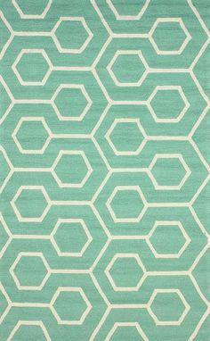 Rugs - Hacienda Outdoor Trellis Seafoam Rug | Rugs USA - seafoam green and white trellis rug, mint green and white trellis rug, turquoise an...