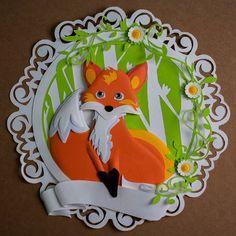 A little fox  #fox #animal #cartoon #custom #handmade #gift #illustration #illustrator #paperart  #paperartist #papercut #papercrafting #custompapercut #folding #papercraft #handcut #instaart #hobby #cute #kawaii #art #decor #walldecor #instaart