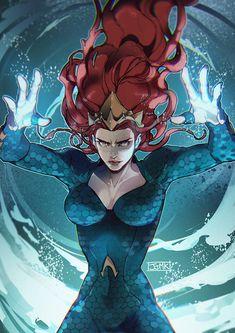 Aquaman(2018) Mera fan art - JJMK Mera Dc Comics, Dc Comics Girls, Arte Dc Comics, Comic Books Art, Comic Art, Dc Comics Characters, Detective Comics, Comic Character, Catwoman
