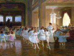 Victor Gabriel Gilbert (French painter) 1847 - 1933  The Children's Dance Recital at the Casino de Dieppe